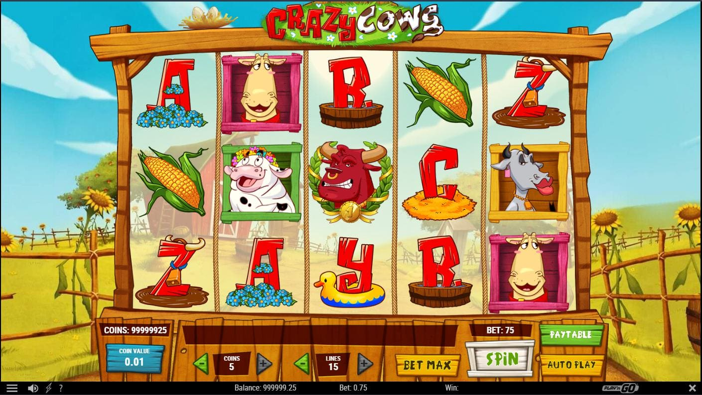 Crazy Cows - playing online on Syndicate.casino no download for free