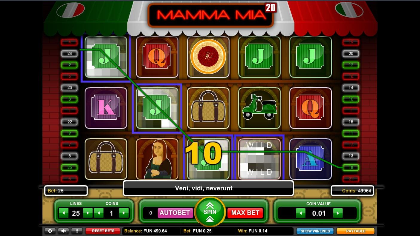 Playing online casino slot Mamma Mia on Syndicate. casino now no download