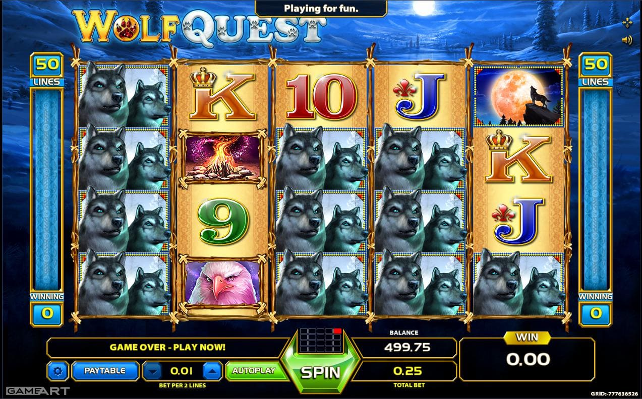 Online casino game Wolf Quest playing online on Syndicate.casino no download